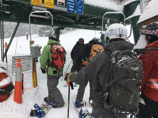 You must pass a beacon check to ride the lift.